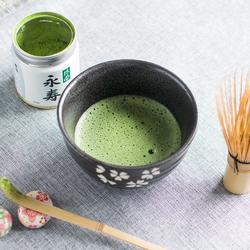 日本茶道日式和风抹茶碗大号功夫茶具套装樱花陶瓷家用斗笠茶杯子