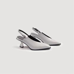 诺逻辑 2018春夏新款深V鞋口后镂空凉鞋高跟欧美百搭英伦街头时尚
