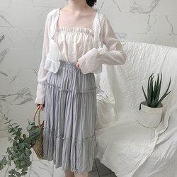 外披2018新款白色外搭女夏小披肩薄雪纺上衣空调防晒开衫短款外套