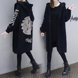 中长款针织衫开衫女2017欧洲站秋冬新款韩版加厚毛衣时尚宽松外套