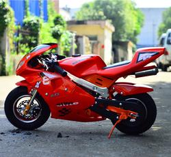 17新电打启动迷你小摩托车跑车微小型摩托车49cc成人汽油真空胎