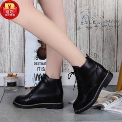 秋季新款女单短筒靴内增高女靴2017欧美时尚低跟马丁靴学生女皮靴