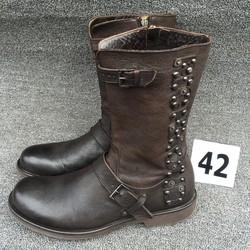 richmond二手高帮皮鞋牛皮男休闲鞋马丁靴子军靴短靴真皮男靴42