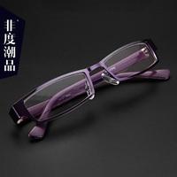 金属镜框高清老花镜女时尚超轻正品日本年轻态舒适老光眼镜老化镜