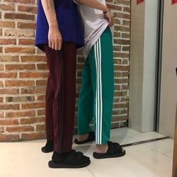 夏季韩国ulzzang经典三杠复古百搭休闲运动裤情侣长裤男女学生潮