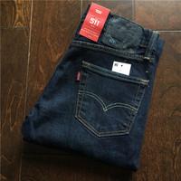 美国官网采购 Levi's 511-1390 李维斯深蓝色男士修身牛仔裤