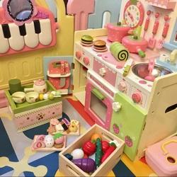 仿真过家家厨房 木制儿童玩具2-3-6岁宝宝做饭灶台厨具 女孩礼物
