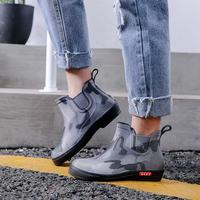 雨鞋男韩版短筒低帮雨靴胶鞋潮套鞋厨房工作加绒防水防滑秋冬水鞋