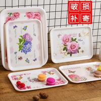 放杯子的托盘长方形塑料创意欧式水杯茶盘家用托盘水果托盘美容院
