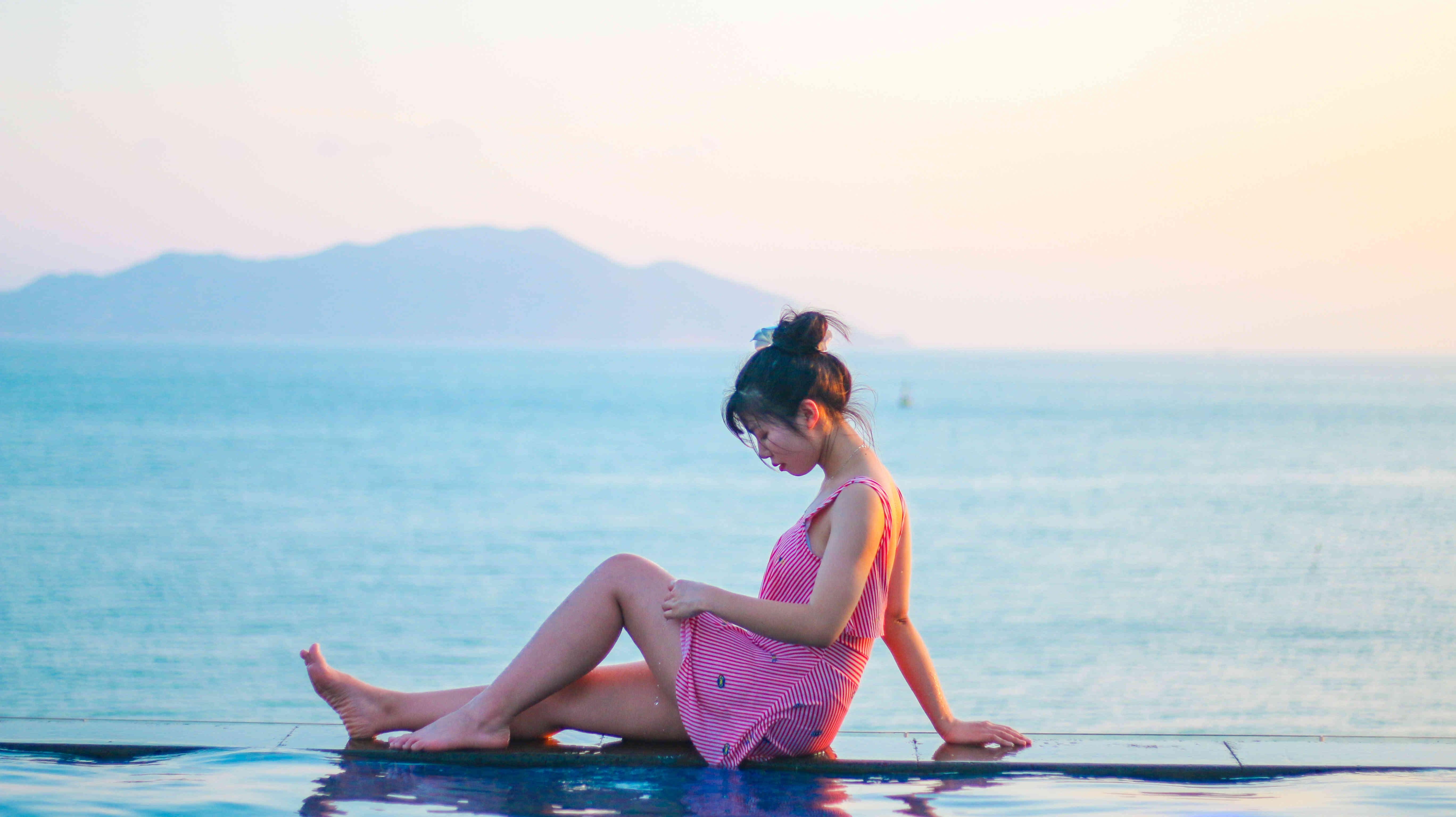 在珠海东澳?#28023;?#20307;验亚洲首家海洋热疗