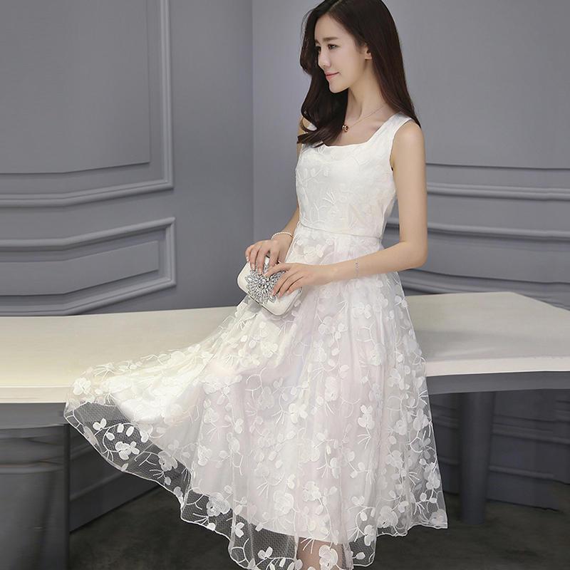 2016夏季韩版网纱长裙大裙摆女士半身裙沙滩裙蓬蓬裙