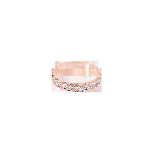 韩京菱形镶钻戒指女款日韩潮人时尚网红食指环不掉色简约钛钢戒子