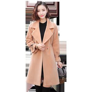 冬季呢子外套女2018新款秋冬韩国版收腰小个子妮子中长款毛呢大衣