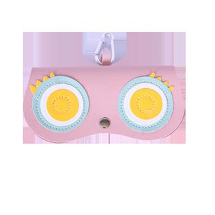 墨镜夹眼镜盒ins少女便携太阳眼镜包可爱眼睛保护套时尚袋挂饰潮