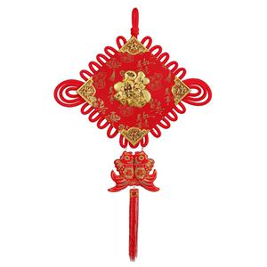中国结挂件客厅大号装饰对联纯手工中国风客厅壁挂玄关喜庆用品