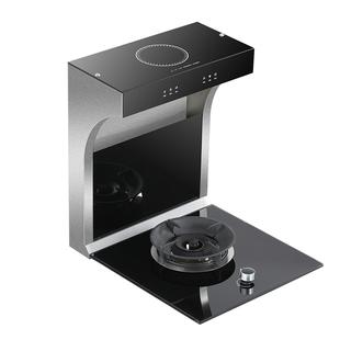 小户型分体式45cm抽油烟机电磁单灶