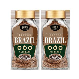 隅田川巴西进口速溶黑咖啡意式冻干纯咖啡粉冰美式无蔗糖100g 2瓶