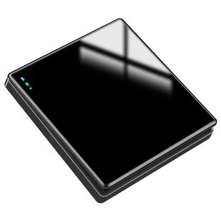 国际电工86型黑色开关家用玻璃面板