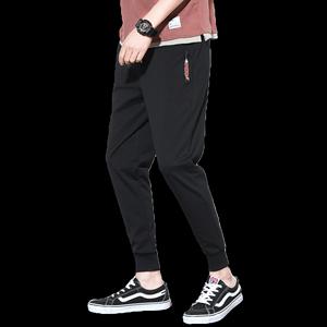运动裤男宽松休闲裤男卫裤男潮牌裤子男韩版潮流束脚小脚裤哈伦春