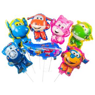 超级飞侠卡通铝膜儿童生日主题气球