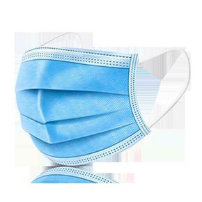 口罩一次性防护三层现货防雾霾防尘透气成人熔喷布含口鼻罩100只