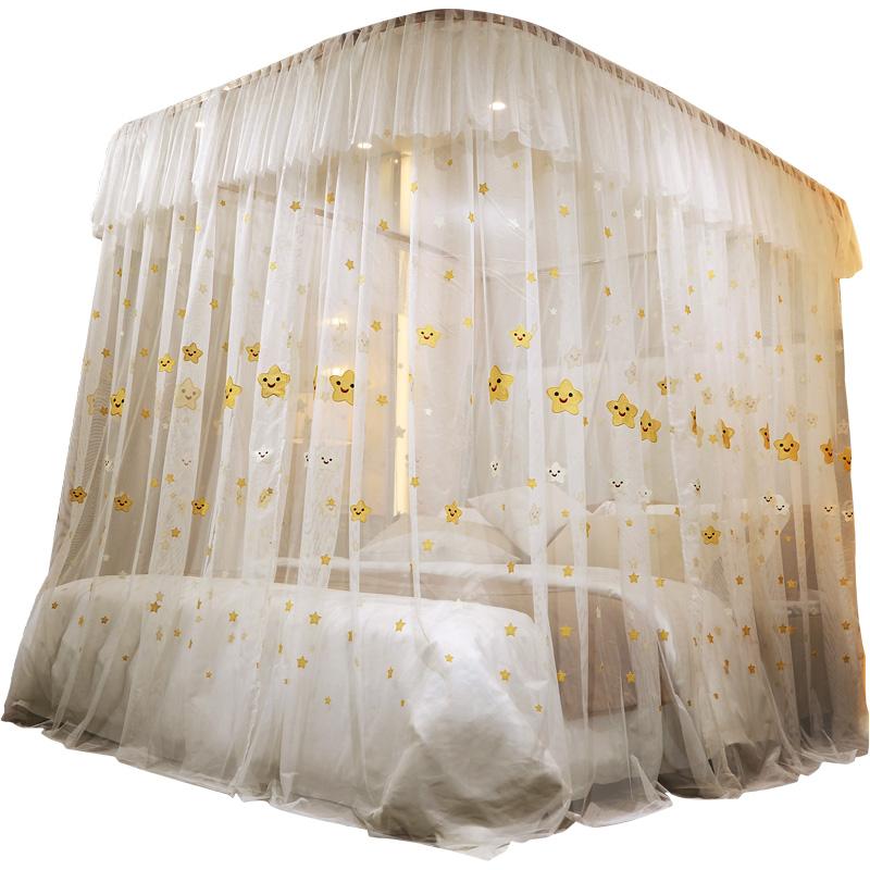 点击查看商品:南极人蚊帐u型导轨1.8m床双人刺绣1.5米轨道三开门落地2米公主风