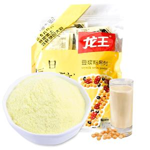 龙王豆浆粉商用非转基因无添蔗糖速溶黄豆黑豆浆早餐30g*16小包装