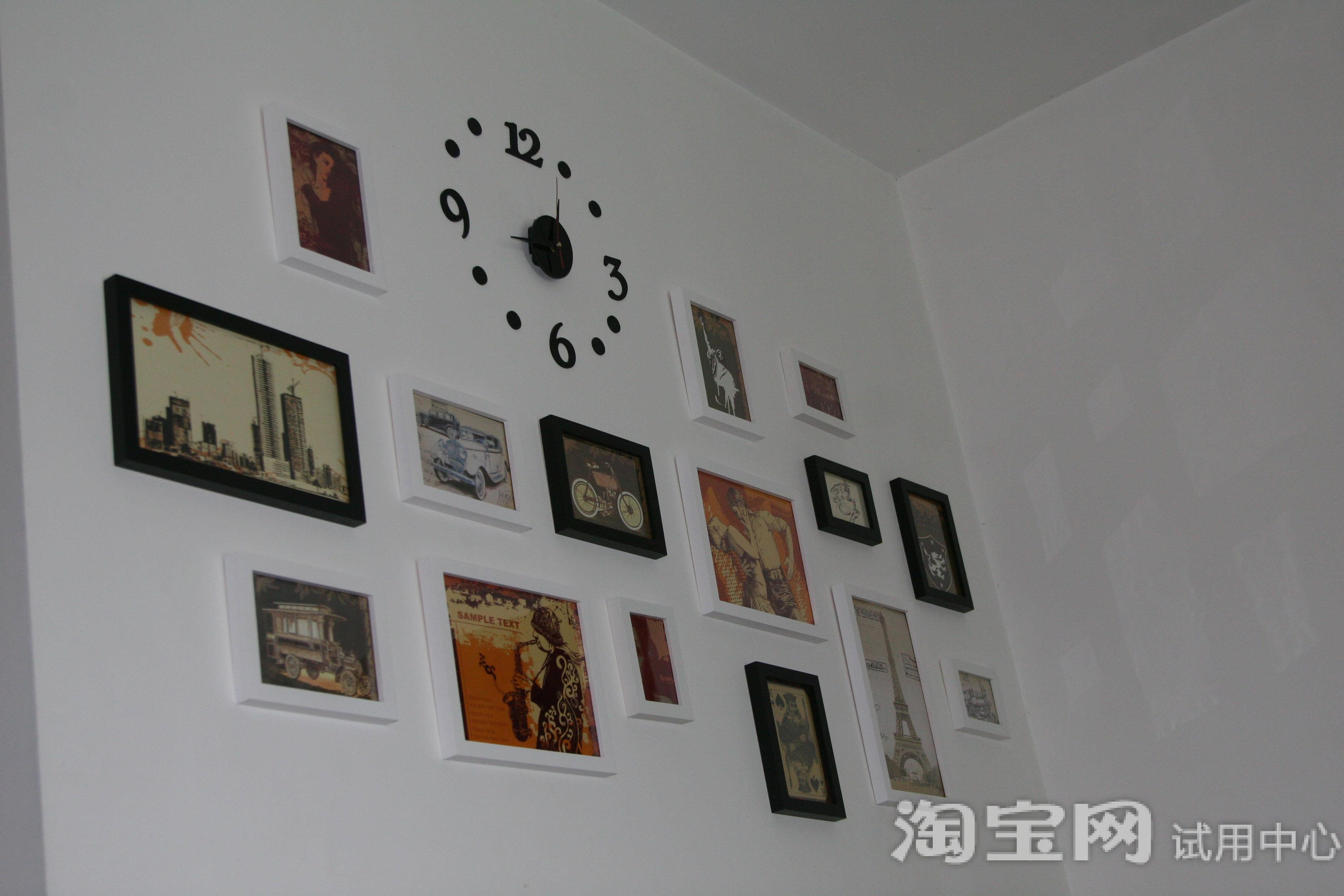 金鼎15框实木相框 钟表组合试用报告-淘宝试用