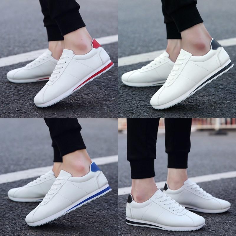 秋季韩版男士板鞋男鞋子运动休闲鞋小白鞋男青少年潮鞋白色阿甘鞋