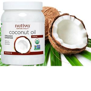 Nutiva/优缇 进口有机初榨椰子油1.6L Coconut Oil生酮食用护肤