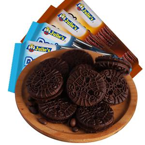 马来西亚进口Julies茱蒂丝巧克力夹心饼干早餐代餐零食160g*4袋装