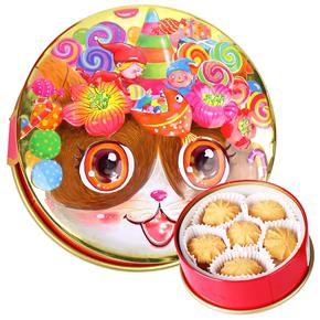 香港克努特canute进口手工黄油曲奇饼干儿童孕妇零食品铁盒装120g