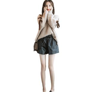 套装女2019新款气质网红洋气毛衣时髦两件套秋冬时髦轻熟风阔腿裤