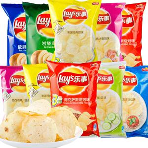 正宗乐事薯片75g*6零食品大礼包休闲膨化整箱超大混合装批发小吃
