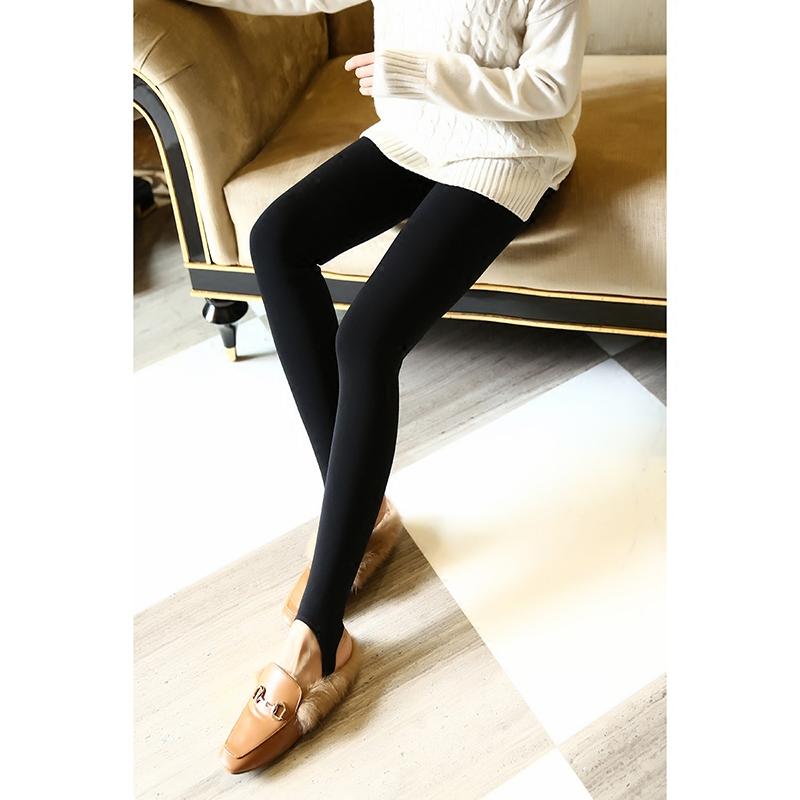 升级厚版!含羊绒的~巨保暖!腰部发热纤维!加绒加厚踩脚打底裤