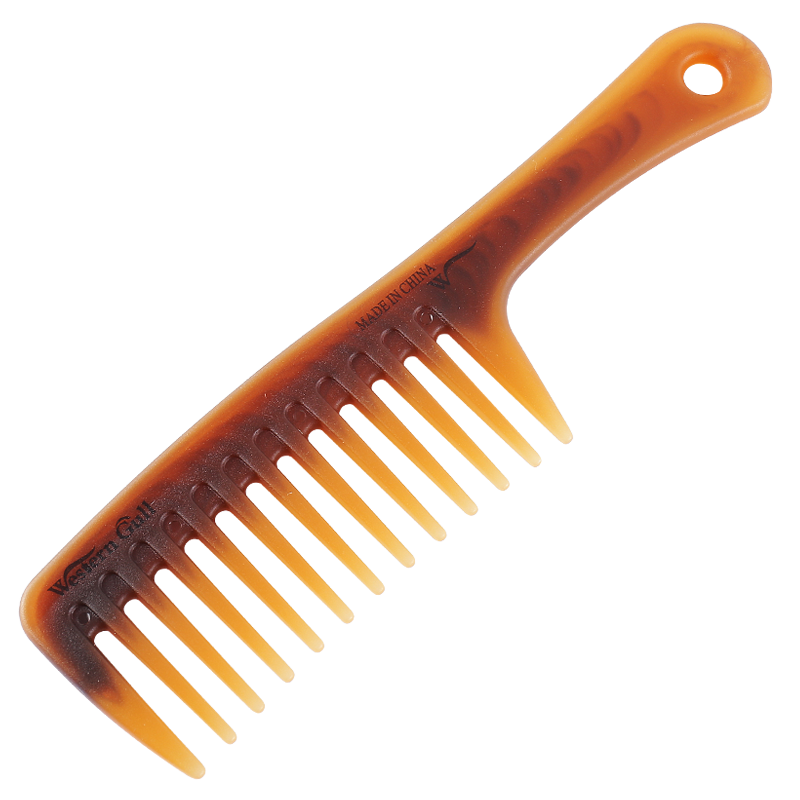 双色大号宽齿卷发大齿梳子