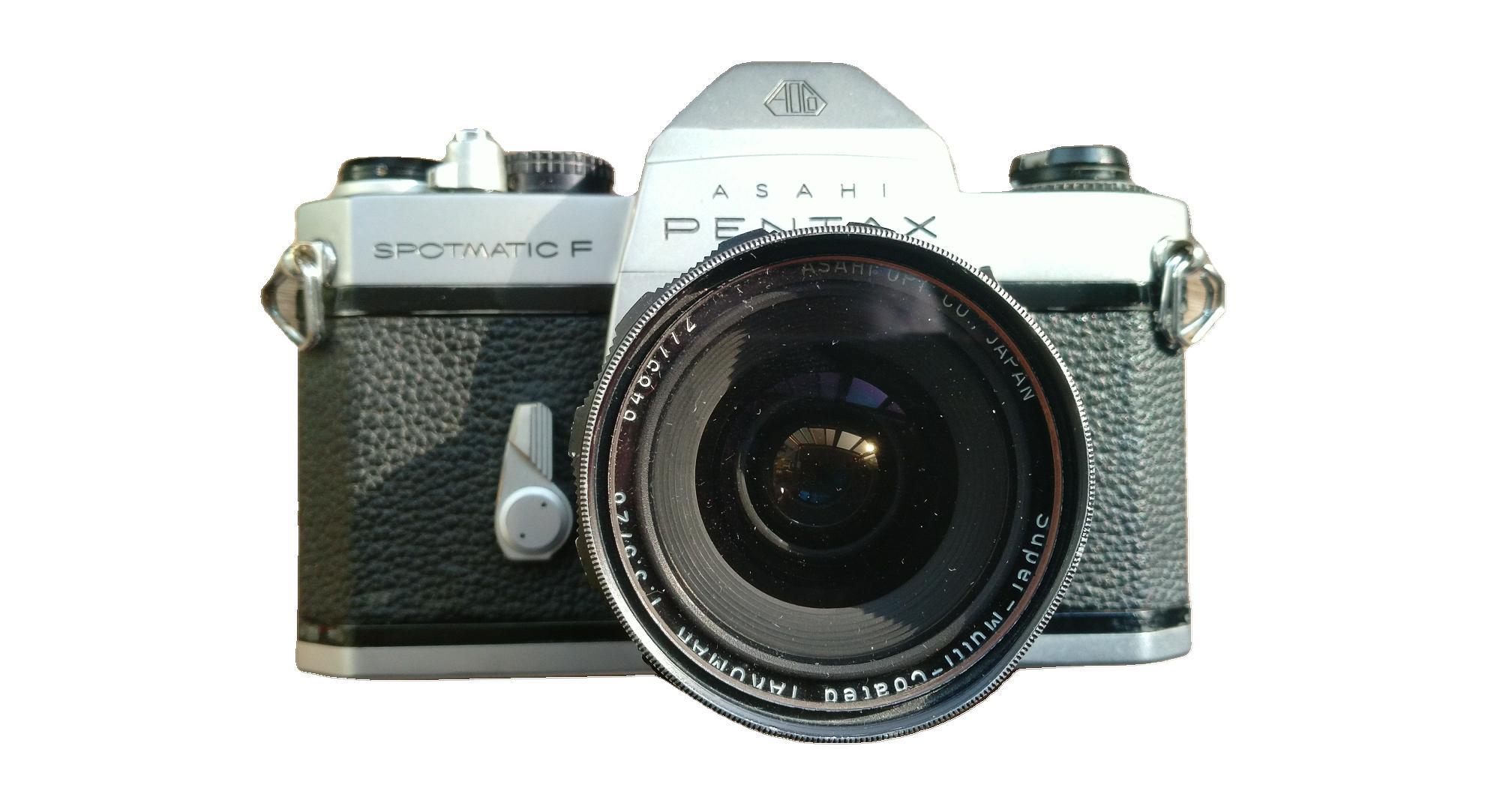 宾得spf胶片机,带太苦玛28/3.5镜头,取景器有灰,有老