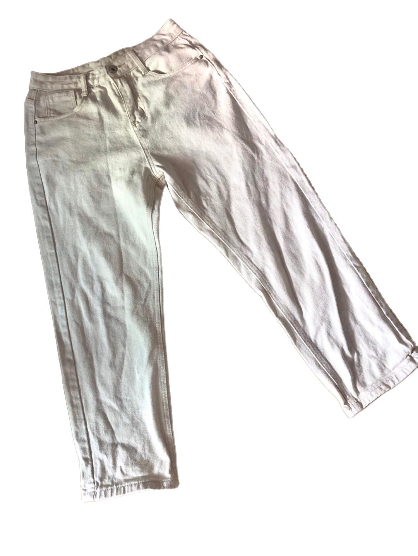 牛仔裤 女 米色xl码 墨绿色均码 宽松款式 两条都是九成新