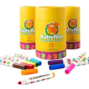 美乐儿童水彩笔套装幼儿园无毒可水洗画笔宝宝画画涂鸦笔彩色小学生彩色笔绘画24色48色12色水彩笔水溶性彩笔