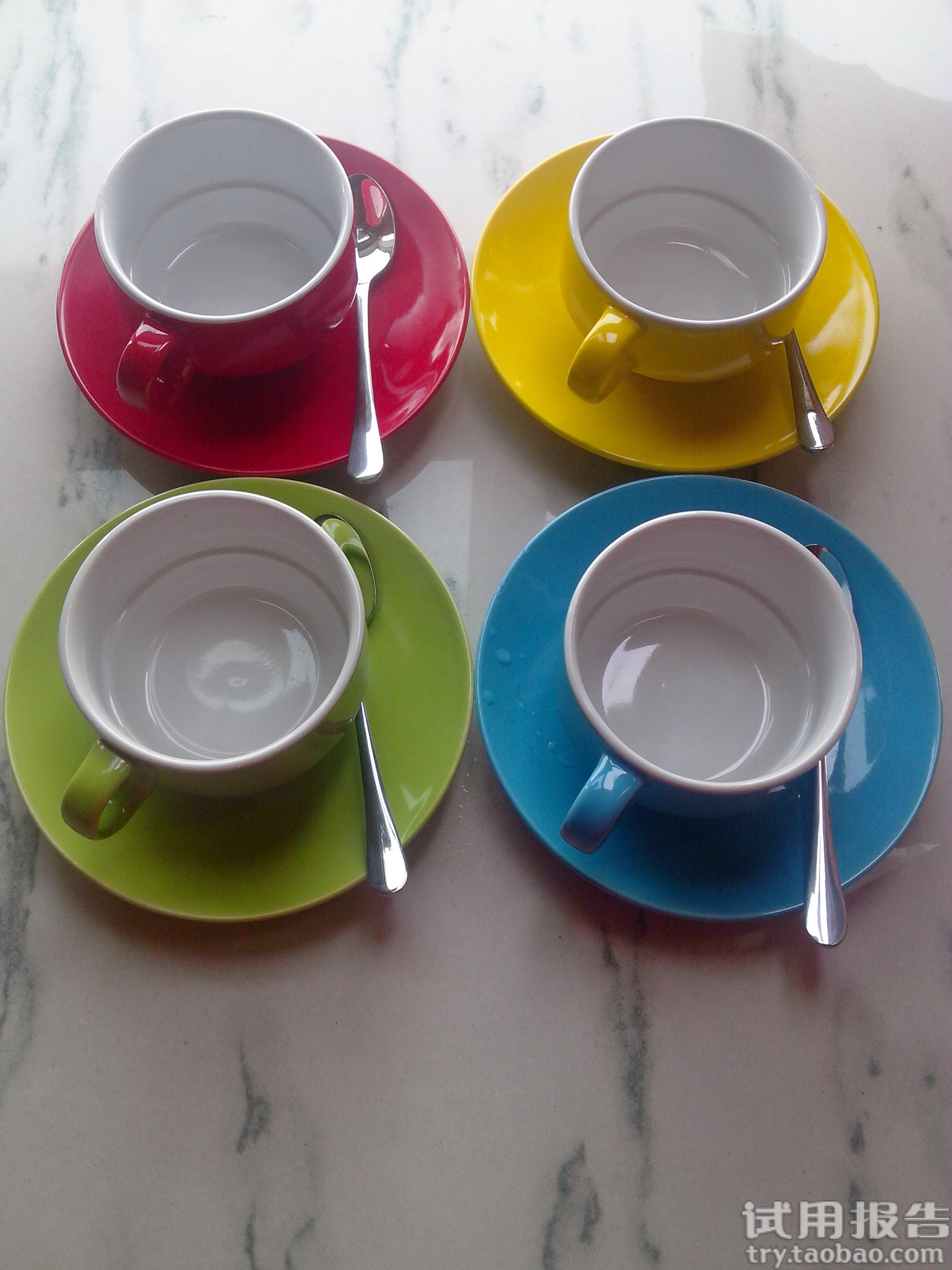 欧式陶瓷咖啡杯套装试用报告-淘宝试用