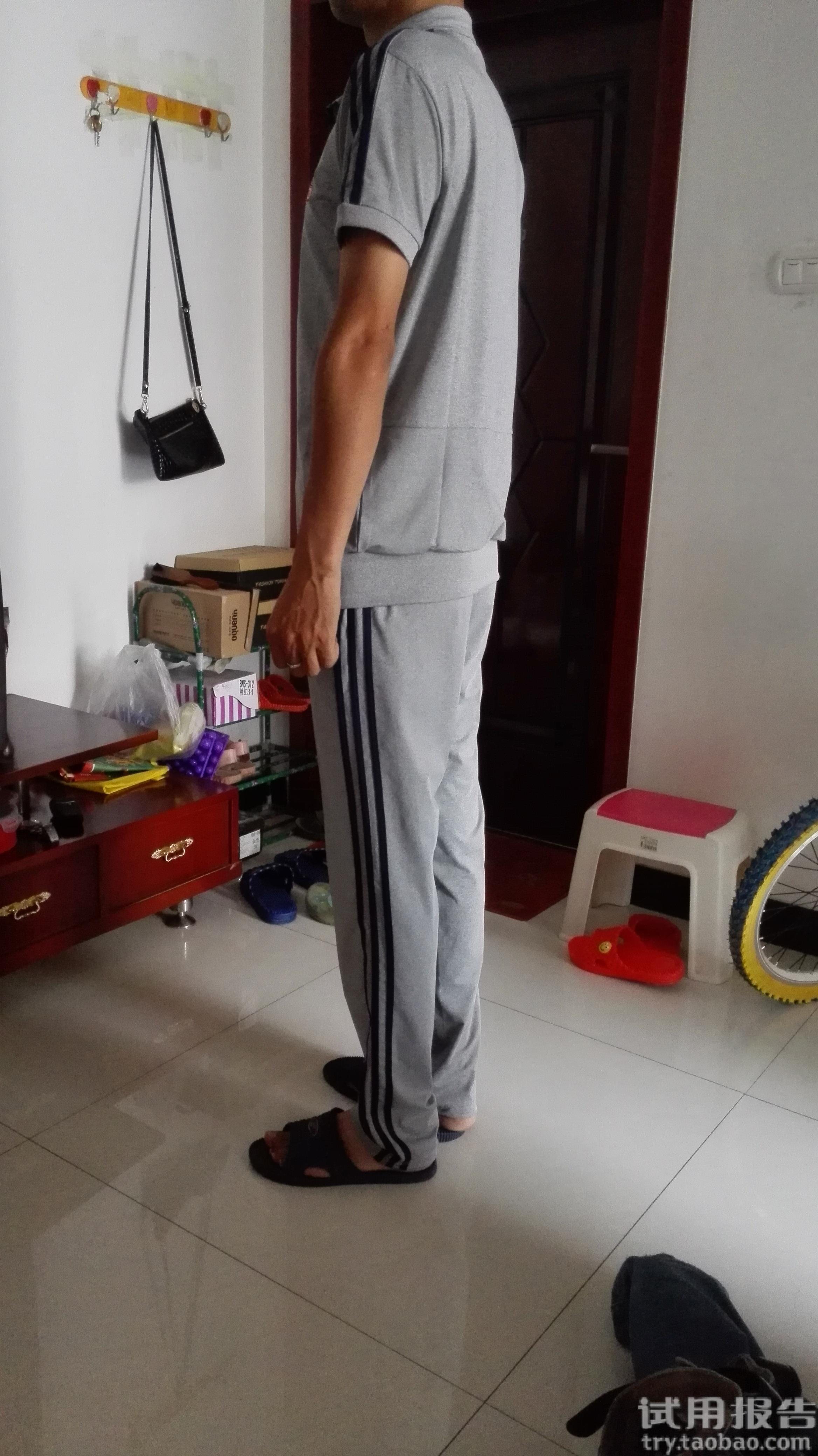情侣短袖长裤休闲跑步运动服