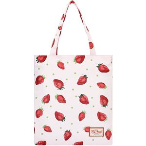 2019新款草莓印花手提单肩包女韩版休闲可爱环保购物袋ins托特包