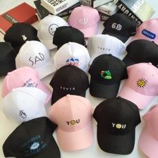 夏季帽女潮黑色休闲百搭棒球帽可爱鸭舌帽男士韩版学生子