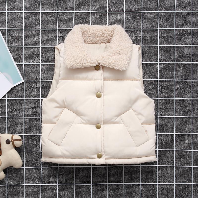 儿童背心 冬 被芯 冬季宝宝马甲冬天加厚保暖小女孩外搭时尚可爱