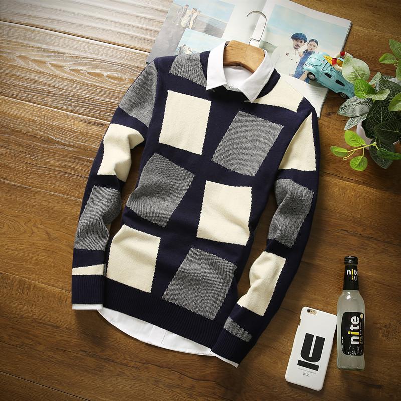 秋冬季男士长袖T恤韩版秋衣男装青少年卫衣打底针织衫上衣服毛衣