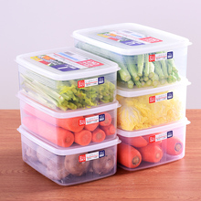 日本进口塑料保鲜盒套装冰箱6b10果收纳6l方形微波炉饭盒子