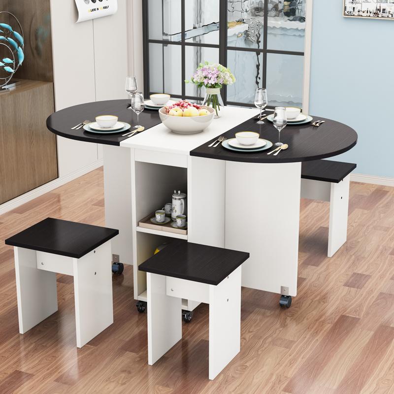 点击查看商品:折叠桌子餐桌家用小户型4人经济型吃饭桌圆形桌简易移动桌子折叠