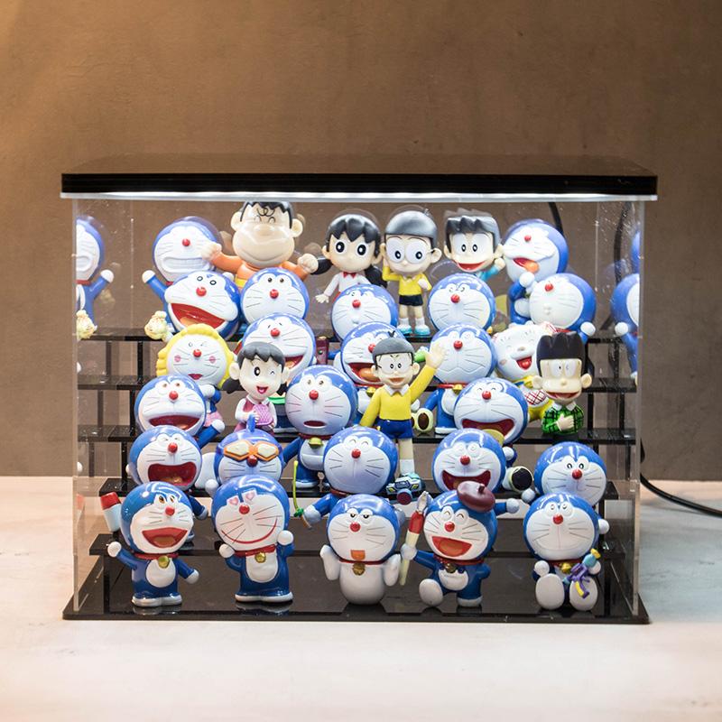 多啦diyA梦场景机器猫公仔摆件叮当猫玩偶手办套装玩具礼品圣诞节