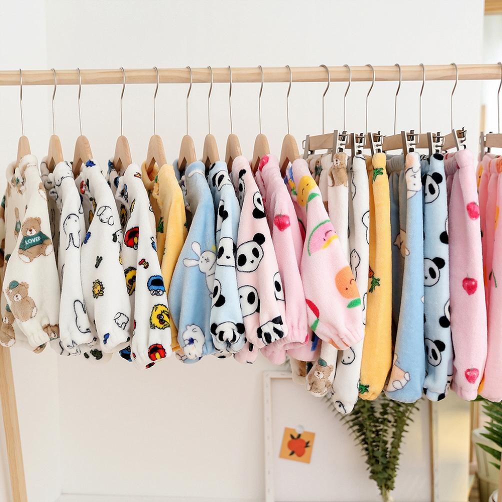 珊瑚绒男女中小童家居服衣服套装卡通舒适小童居家服冬儿童宝宝