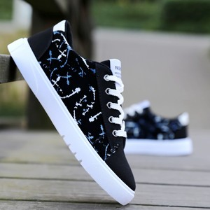 Men's Korean version of the trend of men's shoes autumn and winter thick bottom men's canvas shoes youth sports shoes tide shoes
